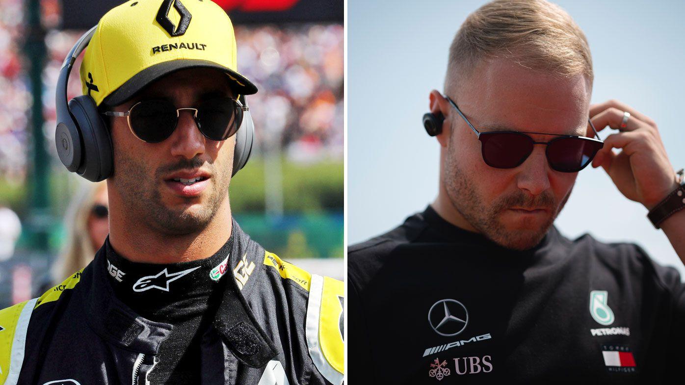 Daniel Ricciardo and Valtteri Bottas
