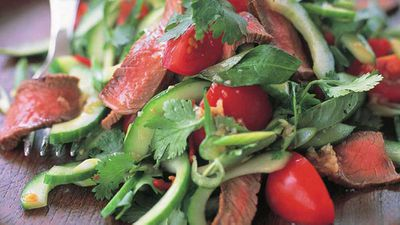 """Pack some extra protein into your greens with our <a href=""""http://kitchen.nine.com.au/2016/05/18/02/04/chargrilled-beef-salad"""" target=""""_top"""">char-grilled beef salad</a> recipe"""