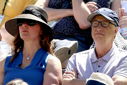 Bill and Melinda Gates met shortly after she joined Microsoft in 1987, at a business dinner in New York. Here, the couple are pictured at a tennis tournament in 2019.