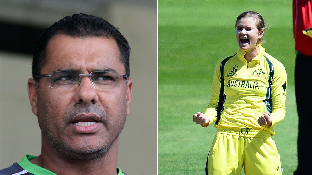 Aussie cricketers Jess Jonassen and Alyssa Healy hit back at Waqar Younis comments that women's game is too long