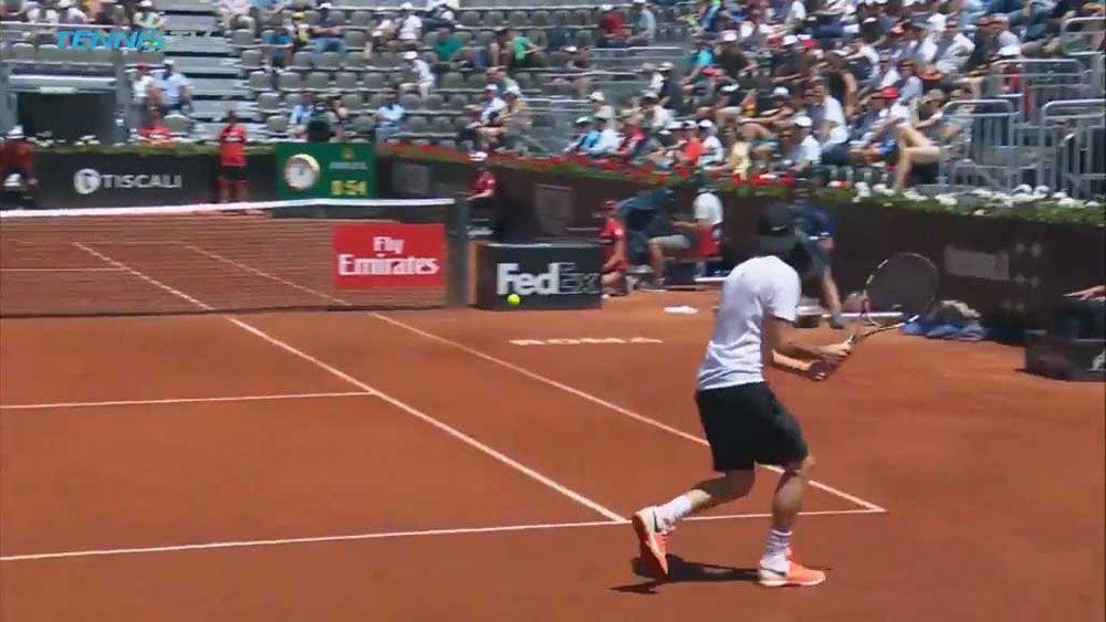 Adrian Mannarino pulls off incredible drop shot at Rome Masters