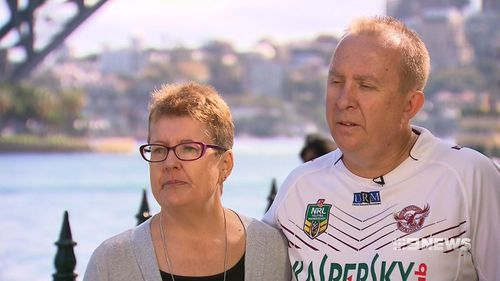Hannah's parents, Graeme and Di, have bravely told their story. (9NEWS)