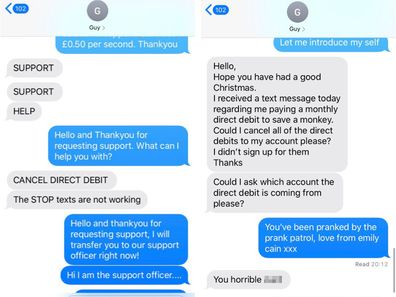 Woman's prank on man who gave his number to her.