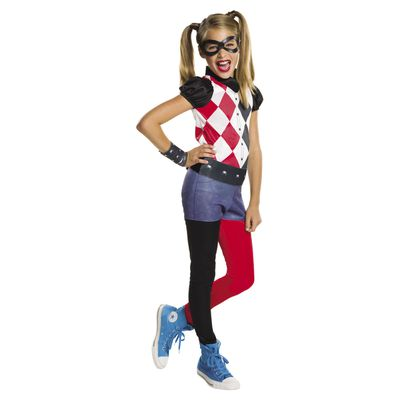 "Harley Quinn from DC Comics. You can grab the whole costume (pictured) from Kmart. <a href=""http://www.kmart.com.au/product/dc-super-hero-harley-quinn-costume/1044306"" target=""_blank"">DC Super Hero Harley Quinn Costume, $20.</a>"