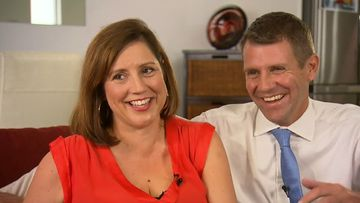 Mike and Kerryn Baird at their Northern Beaches home today. (9NEWS)