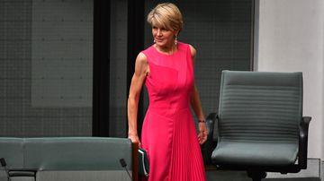 vFormer Liberal deputy leader Julie Bishop pictured in the House of Representatives yesterday.