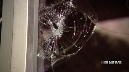 The group broke the window. (9NEWS)