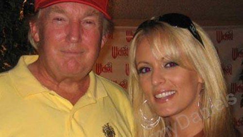 Donald Trump and Stephanie Clifford, aka Stormy Daniels. (Myspace)
