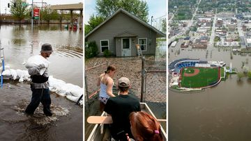 190510 USA states flooding rains indundation pictures News World