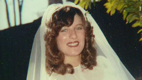 Linda Reed on her wedding day.