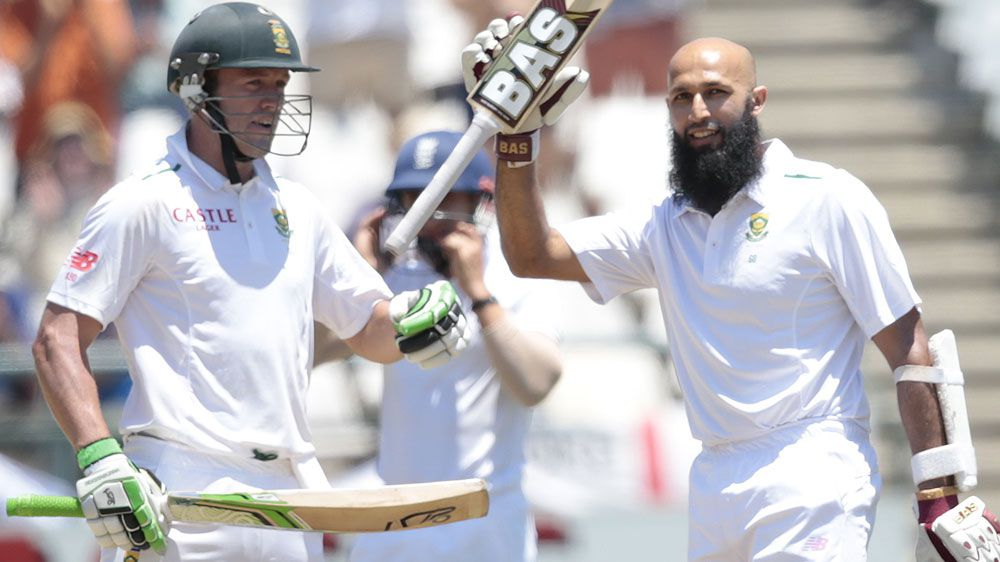 Hashim Amla celebrates his defiant century. (AFP)
