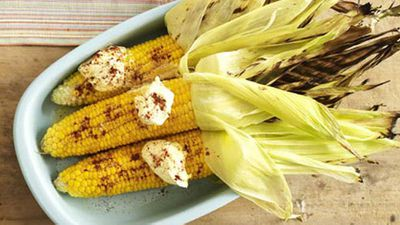 """<a href=""""http://kitchen.nine.com.au/2016/05/17/14/23/grilled-corn-with-cream-and-chipotle-chilli"""" target=""""_top"""">Grilled corn with cream and chipotle chilli</a> recipe"""