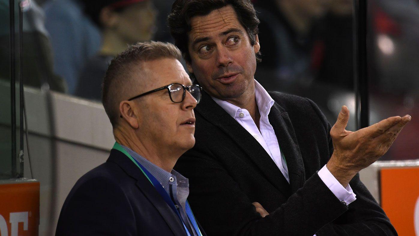 Steve Hocking and Gillon McLachlan