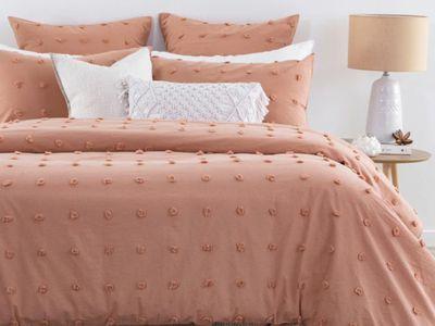 Alba Clay Quilt Cover Set — Pillow Talk