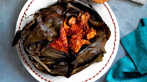 Puerco pibil, Yucatán pickles and gorditas