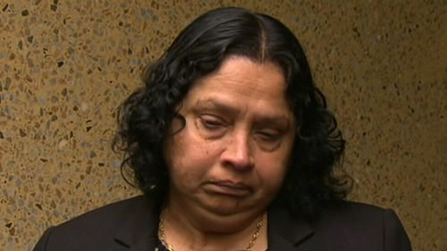 Ann Peiris' husband, Priyantha Peiris, died as a result of the storm. (9NEWS)