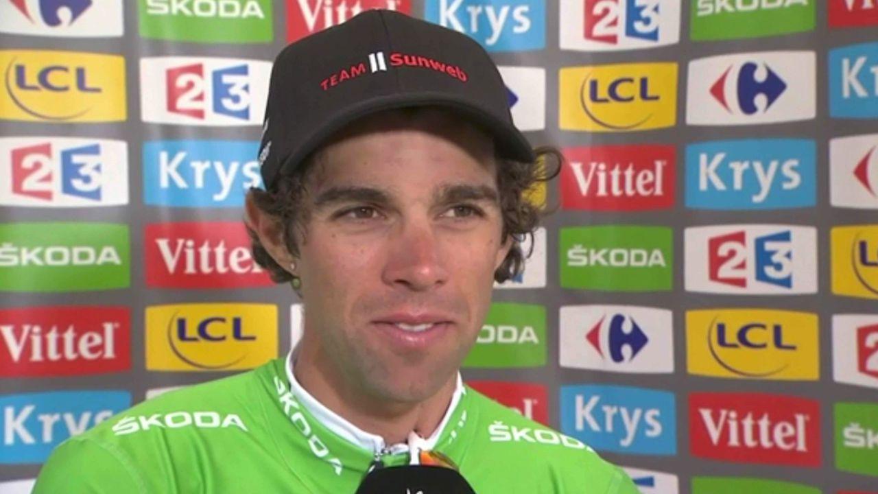 Matthews describes green jersey as dream come true