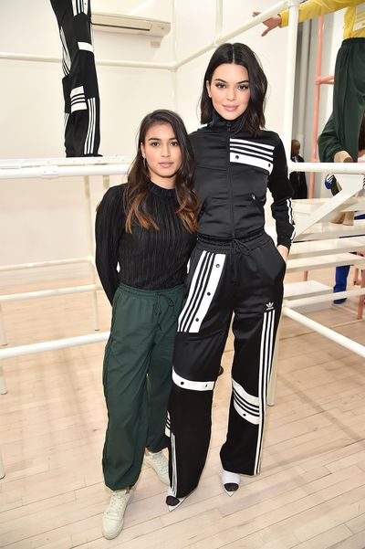 Danielle Cathari and Kendall Jenner in New York on February 8, 2018