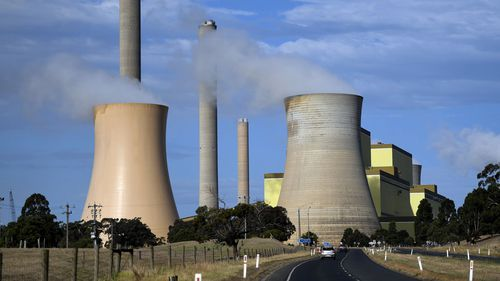 A coal-fired power station in the La Trobe valley.