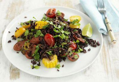 "Recipe: <a href=""http://kitchen.nine.com.au/2016/05/05/14/27/warm-mexican-rice-salad"" target=""_top"">Warm Mexican rice salad</a>"