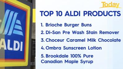 Aldi's top five most popular products.