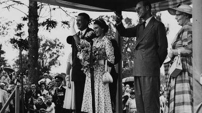 Prince Philip and Queen Elizabeth, 1956