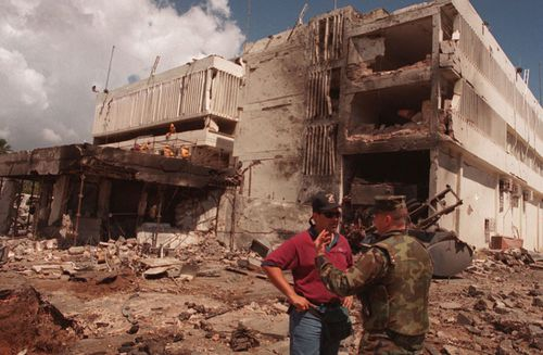 The deadly 1998 al Qaeda attack on the US embassy in Kenya.