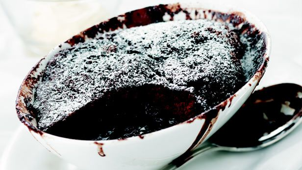 The easiest chocolate self-saucing pudding