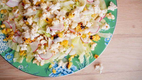 Jane de Graaff even uses sweet and salty popcorn in her salad