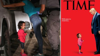 Time magazine cover puts child immigrants at Trump's feet