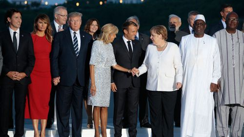 Global heads of stated gathered in France for a G7 summit.