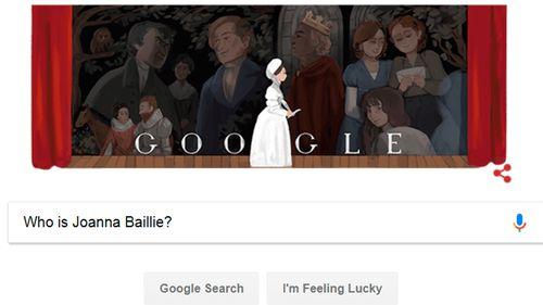 Google Doodle pays tribute to Scottish poet Joanna Baillie