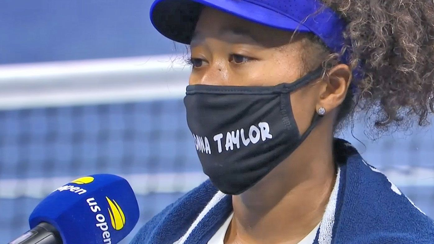 Naomi Osaka turns heads with Breonna Taylor mask in first round of the US Open