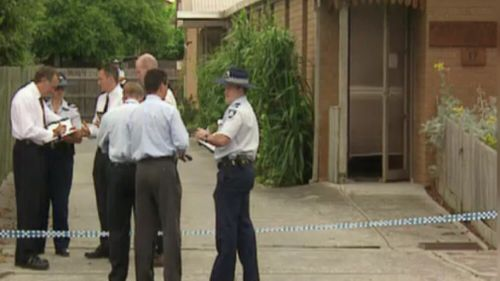Police at the scene of the crime more than 20 years ago. (9NEWS)