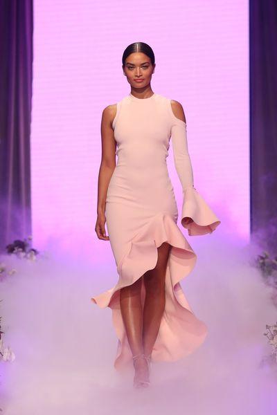 Shanina Shaik in custom-made By Johnny, David Jones spring/summer '17 launch, Sydney