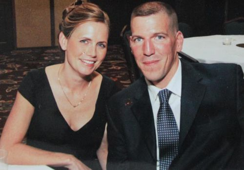 Mrs O'Rourke with husband Brendan. (Supplied)