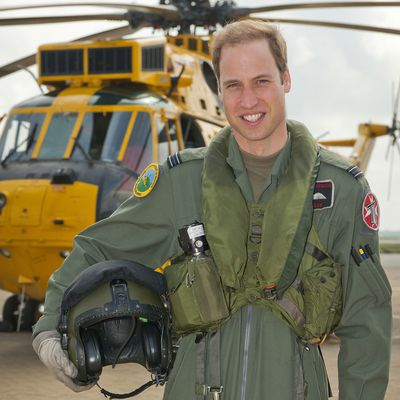 Prince William works