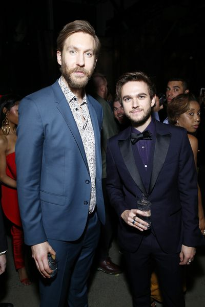 Musicians Calvin Harris and Zedd at Universal Music Group's 2018 Grammy's After Party