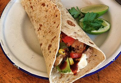 Mexican grilled chicken wraps
