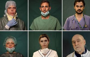 In photos: Amazing portraits capture Italy's front-line medical heroes