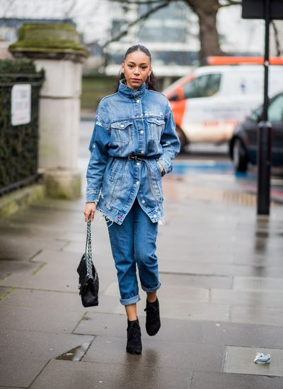 We told you double denim was back.