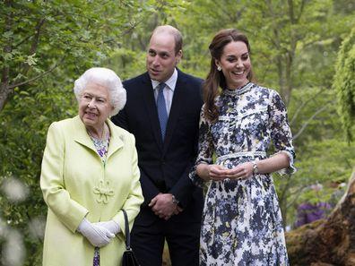Duke and Duchess of Cambridge with Queen Elizabeth