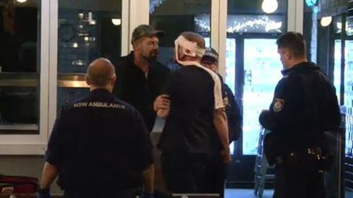 The man was allegedly glassed in an altercation at a Sydney pub. (9NEWS)