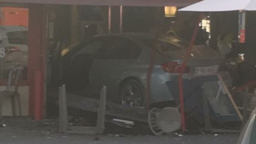 A car has crashed into a pizza shop east of Paris, killing a young girl. (Source: Twitter/@HoolaChoup)