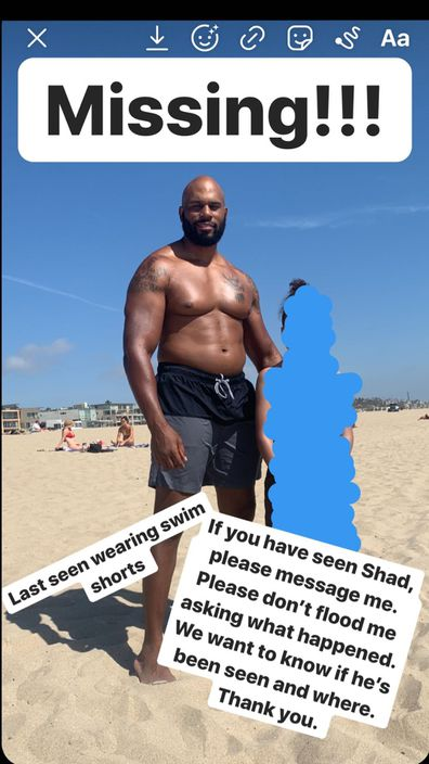 Shad Gaspard's wife has pleaded with fans to help find the former WWE superstar