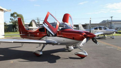 Mr Wheeler's Cirrus SR-22 stalled and crashed at Orange Airport last night. (Supplied)