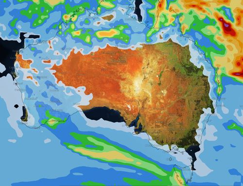 By Easter Sunday more of Western Australia will have rain moving across the state. (Weatherzone)
