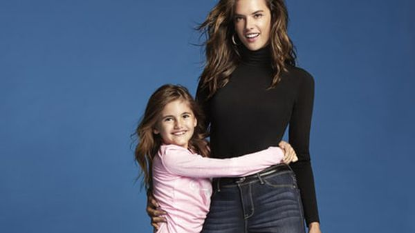 Good jeans: Alessandra Ambrosio and her nine-year-old daughter Anja are the stars of a new fashion campaign for Jordache. Image: Jordache