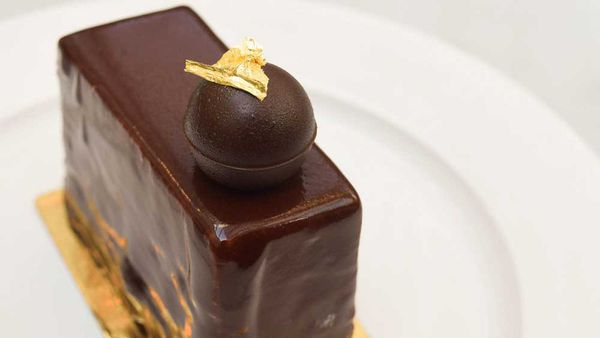 Chocolate passionfruit gateux