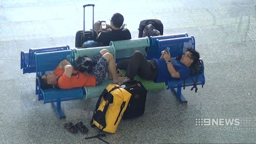 Airport seating isn't renowned for its comfort. (9NEWS)